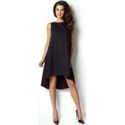 Sukienki: Czarna Sukienka Asymetryczna Bez Rękawków