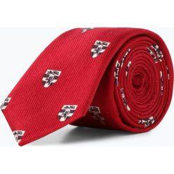 Finshley & Harding London - Krawat jedwabny męski ze spinką, czerwony. Czerwone spinki do krawatów Finshley & Harding London. Za 149,95 zł.