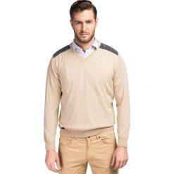 Sweter FABRIZIO K SWE000067. Czarne swetry klasyczne męskie marki Giacomo Conti, m, z bawełny, z klasycznym kołnierzykiem. Za 199,00 zł.