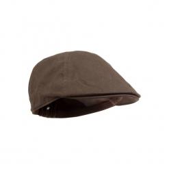 Czapka z daszkiem myśliwska Steppe. Brązowe czapki z daszkiem damskie SOLOGNAC, z bawełny. Za 39,99 zł.