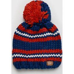 Pepe Jeans - Czapka. Brązowe czapki zimowe damskie Pepe Jeans, na zimę, z dzianiny. W wyprzedaży za 99,90 zł.