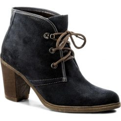 Botki LASOCKI - A210 Granatowy. Niebieskie buty zimowe damskie Lasocki, ze skóry, na obcasie. W wyprzedaży za 125,00 zł.