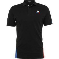 Le coq sportif TENNIS  Koszulka polo black/cobalt/pur rouge. Czarne koszulki polo le coq sportif, m, z bawełny. Za 369,00 zł.