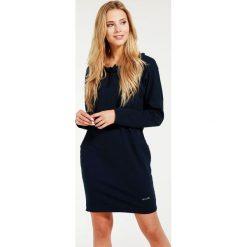 Sukienka - 30-86227G BLS. Niebieskie sukienki hiszpanki Unisono, l, z bawełny, proste. Za 89,00 zł.
