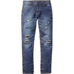 """Dżinsy Regular Fit Tapered bonprix niebieski """"stone used"""". Niebieskie jeansy męskie regular bonprix. Za 59,99 zł."""