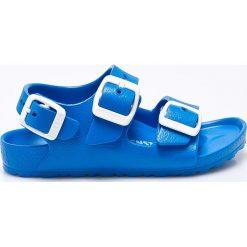 Birkenstock - Sandały dziecięce Milano EVA. Niebieskie sandały chłopięce Birkenstock, z materiału, na klamry. Za 89,90 zł.