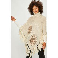 Desigual - Sweter. Szare swetry klasyczne damskie Desigual, uniwersalny, z dzianiny. W wyprzedaży za 299,90 zł.