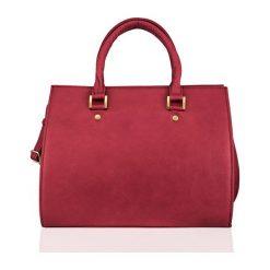 SKÓRZANA TORBA DO RĘKI  FELICE GOLD GATTO MALINOWY ELEANOR. Różowe torby na laptopa marki FeliceGold, w paski, z bawełny. Za 399,00 zł.