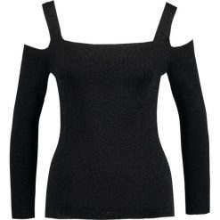 Swetry klasyczne damskie: Whistles SPARKLE BARDOT  Sweter black