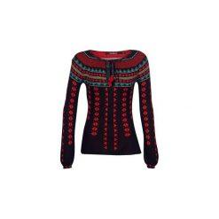 Swetry Desigual  CUSCO. Czarne swetry klasyczne damskie marki Desigual, l. Za 373,20 zł.