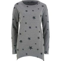 Bluza w gwiazdy bonprix szary melanż. Szare bluzy rozpinane damskie bonprix, melanż. Za 74,99 zł.