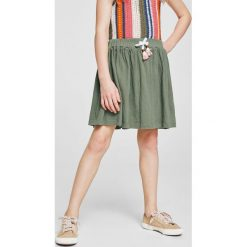 Mango Kids - Spódnica dziecięca Bambu 104-164 cm. Różowe spódniczki Mango Kids, z bawełny, mini. Za 59,90 zł.