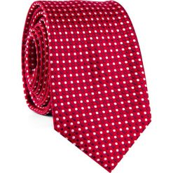 Krawat KWTR001806. Białe krawaty męskie Giacomo Conti, w kropki, z mikrofibry. Za 69,00 zł.