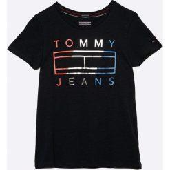 Tommy Hilfiger - Top dziecięcy 122-176 cm. Szare bluzki dziewczęce bawełniane marki bonprix, m, melanż, z kontrastowym kołnierzykiem. W wyprzedaży za 99,90 zł.