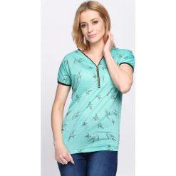 Bluzki damskie: Zielony T-shirt Don't Ask
