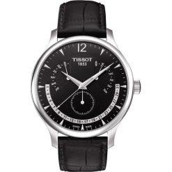 RABAT ZEGAREK TISSOT T-CLASSIC T063.637.16.057.00. Czarne zegarki męskie TISSOT, ze stali. W wyprzedaży za 1478,40 zł.