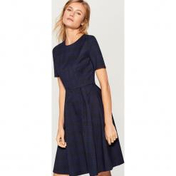 Elegancka sukienka w kratę - Niebieski. Czarne sukienki balowe marki bonprix. Za 159,99 zł.