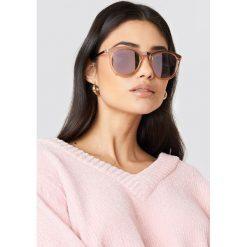 Le Specs Okulary przeciwsłoneczne No Smirking - Pink,Nude. Różowe okulary przeciwsłoneczne damskie aviatory Le Specs, okrągłe. Za 283,95 zł.