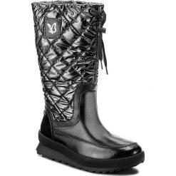 Śniegowce CAPRICE - 9-26408-29 Blk/Silver Com 053. Czarne buty zimowe damskie Caprice, z materiału. W wyprzedaży za 279,00 zł.