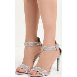 Szare Sandały Holy Grail. Białe sandały damskie marki Reserved, na wysokim obcasie. Za 69,99 zł.