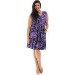 Odzież damska: Sukienka w kolorze czarno-fioletowym
