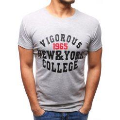 T-shirty męskie z nadrukiem: T-shirt męski z nadrukiem szary (rx2763)