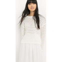 Kardigany damskie: Bawełniany sweter z okrągłym dekoltem