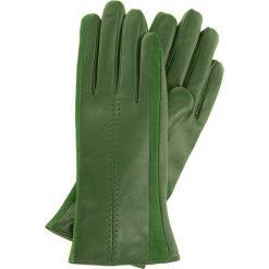Rękawiczki damskie 39-6-559-Z. Zielone rękawiczki damskie marki Wittchen, z zamszu. Za 99,00 zł.