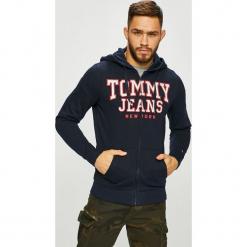 Tommy Jeans - Bluza. Czarne bejsbolówki męskie Tommy Jeans, l, z nadrukiem, z bawełny, z kapturem. Za 399,90 zł.