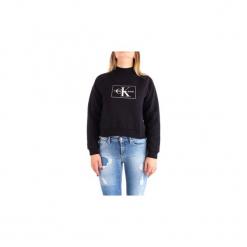 Bluzy Calvin Klein Jeans  J20J208561. Czarne bluzy damskie Calvin Klein Jeans, l, z jeansu. Za 433,74 zł.