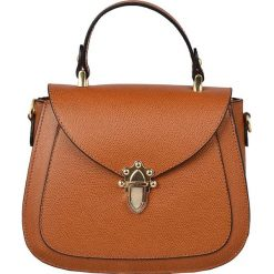 Torebki klasyczne damskie: Skórzana torebka w kolorze jasnobrązowym – 22 x 20 x 11 cm