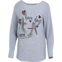Szary Sweter Perfect Day. Szare swetry klasyczne damskie Born2be, l, z dekoltem w łódkę. Za 79,99 zł.