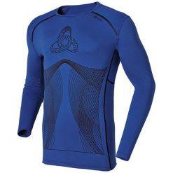 Odlo Koszulka męska l/s crew neck Muscle Force granatowa r. L. Niebieskie t-shirty męskie marki Odlo, l. Za 347,35 zł.
