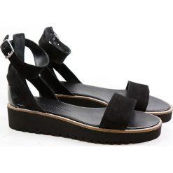 """Sandały damskie: Skórzane sandały """"Celia"""" w kolorze czarnym"""