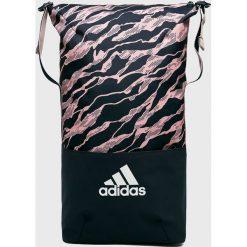 Adidas Performance - Plecak. Czarne plecaki damskie marki adidas Performance, w paski, z materiału. W wyprzedaży za 129,90 zł.