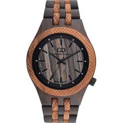 Zegarek Giacomo Design Drewniany męski GD08904. Brązowe zegarki męskie Giacomo Design. Za 429,00 zł.