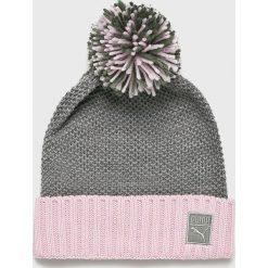 Puma - Czapka. Szare czapki zimowe damskie Puma, na zimę, z dzianiny. Za 99,90 zł.