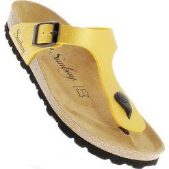 Chodaki damskie: Japonki w kolorze żółtym