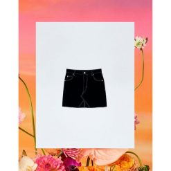 Minispódniczka jeansowa Pull&Bear by Rosalía. Czarne spódniczki jeansowe Pull&Bear. Za 99,90 zł.