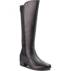 Kozaki CAPRICE - 9-25604-21 Black Comb 019. Czarne buty zimowe damskie Caprice, z materiału. W wyprzedaży za 349,00 zł.