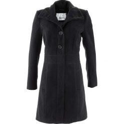 Płaszcz bonprix czarny. Zielone płaszcze damskie marki bonprix, w kropki, z kopertowym dekoltem, kopertowe. Za 169,99 zł.