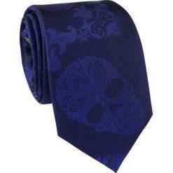 Krawat jedwabny KWGR000223. Niebieskie krawaty męskie Giacomo Conti, z jedwabiu, eleganckie. Za 129,00 zł.