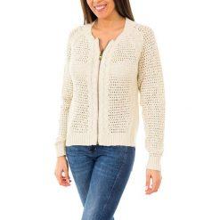 Swetry rozpinane damskie: Sweter w kolorze beżowym