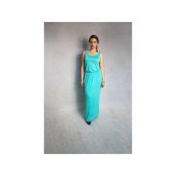 SUKIENKA RARITY | LETNIA MAXI MIĘTOWA. Zielone sukienki na komunię marki Meleksima, na lato, l, z materiału, z długim rękawem, maxi, oversize. Za 125,30 zł.