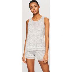 Piżamy męskie: Piżama z szortami - Jasny szar