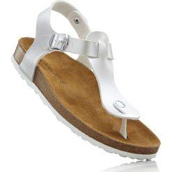 Klapki dziewczęce: Sandały japonki z profilowaną podeszwą wewnętrzną bonprix srebrny