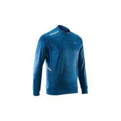 Bluza RUN WARM+. Niebieskie bejsbolówki męskie KALENJI, m, z długim rękawem, długie. Za 69,99 zł.