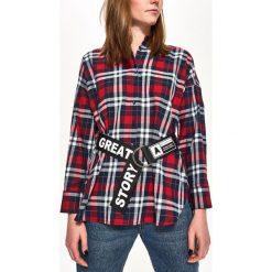 Koszula w kratę - Granatowy. Niebieskie koszule damskie marki Sinsay, l. W wyprzedaży za 29,99 zł.