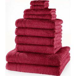 """Bielizna męska: Komplet ręczników """"New Uni""""(10 części) bonprix jeżynowy"""