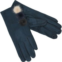 Rękawiczki - 164-ST519 BLS. Niebieskie rękawiczki męskie Unisono, z bawełny. Za 34,00 zł.